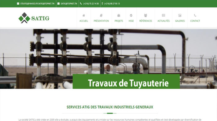 creation site web tunisie