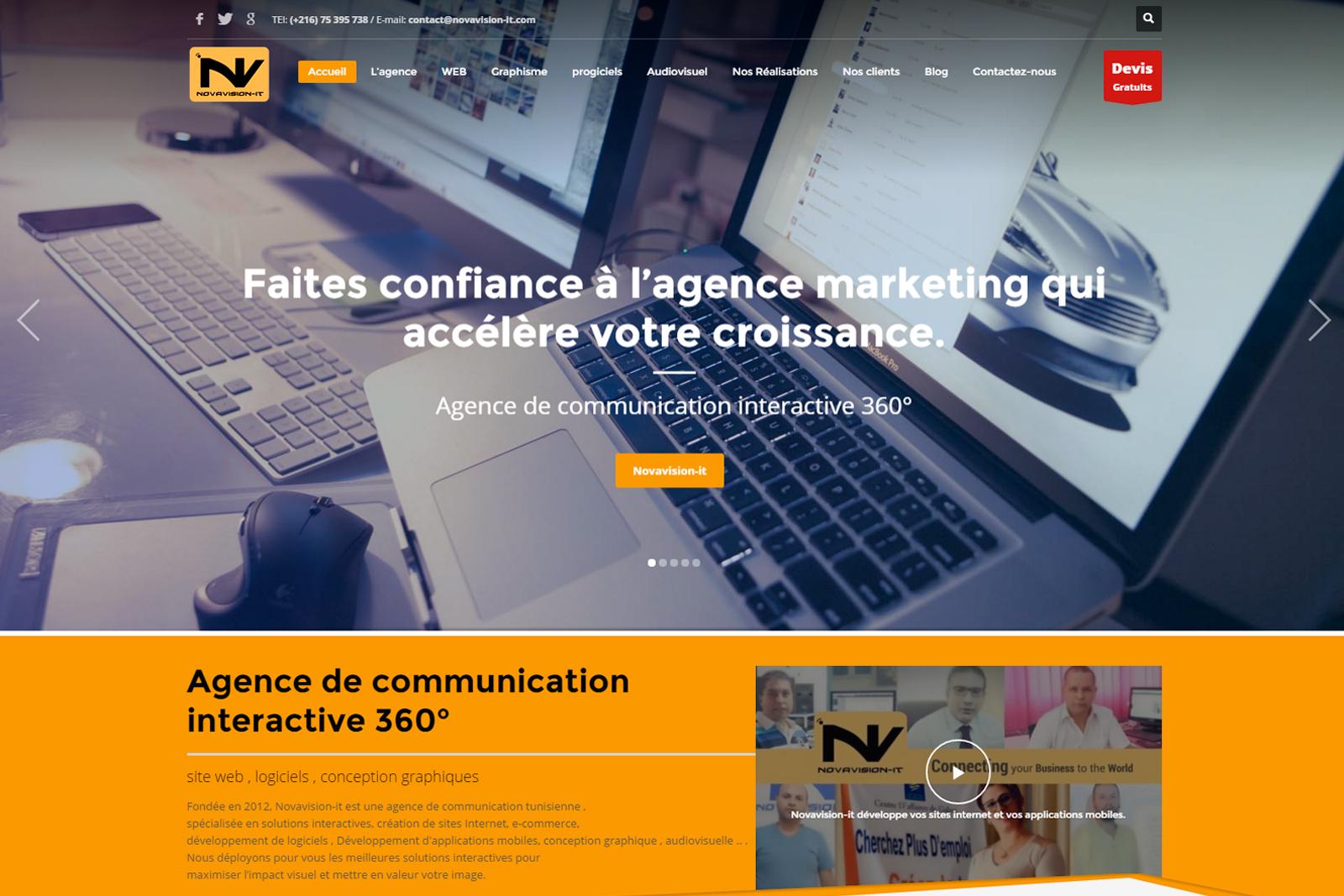 site web responsive tunisie