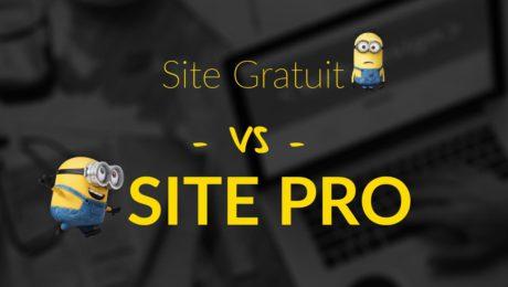 site gratuit vs site pro