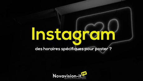 Instagram des horaires spécifiques pour poster